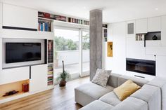 MODERN AND INSPIRING INTERIOR DISPLAYING CONCRETE PILLARS: CASA F/H BY STUDIOMOBILE