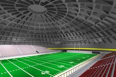 A diameter Crenosphere football stadium. This patented construction method makes possible of domes as large as 1000 feet meters) in diameter. Football Stadiums, Football Field, Monolithic Dome Homes, Philip Johnson, Indoor Soccer, Dome House, Building Department, News Magazines, Google Images