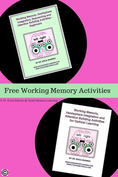 Working memory difficulties can cause students to lose materials, call out irrelevant comments, and get lost with multi-step directions.     Working memory is a cognitive task that helps students recall, select and manipulate information to complete tasks.  It is a cognitive workspace that helps learners maintain attention, block distractions, and finish the task at hand. Come get two working memory freebies that can help to develop this skill!