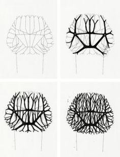 Development sketches for the vegetal chair.  Ronan & Erwan Bouroullec Design