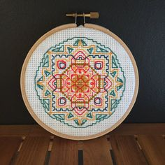 Mandala MEX  Cross Stitch  Broderie by JayTeasDesign on Etsy