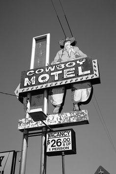 Route 66 - Cowboy Motel, Amarillo, Texas
