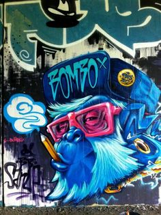 """Sanue from Italy. - """"Give me a wall and one spray paint can and I will move the world"""" - Elcodigodebarras Music Graffiti, Urban Graffiti, Street Art Graffiti, Urban Street Art, Urban Art, Friday The 13th Poster, Spray Can Art, Graffiti Characters, Graffiti Wallpaper"""