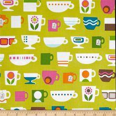 Windham Fabrics Cream & Sugar Dishes Lime