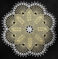 Wheat Spikes Doily