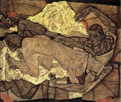 Egon Schiele, Lovers (Man and Woman), 1914