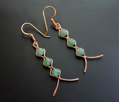 240 Beginner DIY Jewelry Tutorials - Zig-Zag Earrings by Albina Manning, a Free. - 240 Beginner DIY Jewelry Tutorials – Zig-Zag Earrings by Albina Manning, a Free Jewelry Pattern - Wire Wrapped Earrings, Wire Earrings, Diamond Earrings, Crystal Earrings, Diamond Jewelry, Diy Earrings Easy, Diamond Stud, Emerald Diamond, Wire Wrapped Pendant