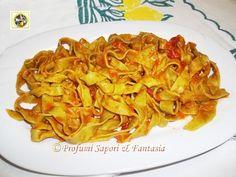 Tagliatelle fresche con basilico al pomodoro Blog Profumi Sapori & Fantasia