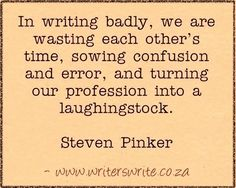 Quotable - Steven Pinker - Writers Write Creative Blog