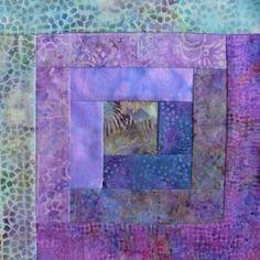 12 Block Log Cabin Quilt Kit Batik Fabric TROPICAL TREASURES Pre cut