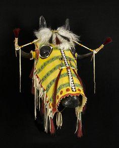 Split Horn Horse Headdress by John MacLeod