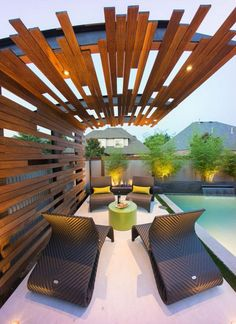 The beautifully landscaped area can also play a great part in increasing the charm of the patio. Trending use of LED lights in the deck, surrounded area or in the roof all look alluring at the first sight. Use these ideas of patio refinement with the mixing of various beauty elements at one place. Check out these designs and styles right now.