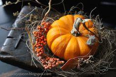 Mini Pumpkin Vignette. Halloween Folk Art by Melissa Valeriote