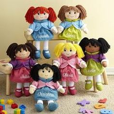 CHRISTMAS GIFT IDEAS:  Personalized Rag Dolls