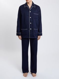 9bb404502e Mens Pyjamas Pure Cotton Royal Dobby Spot