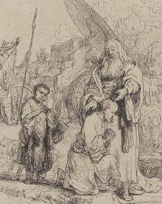 Rembrandt van Rijn Study for The Baptism of the Eunuch Netherlands (1641) Gallica Digital Library