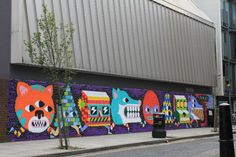 mural by street artist Malarky, painted on Redchurch Street in London