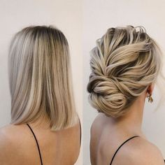 Mother Of The Groom Hairstyles, Mother Of The Bride Hair, Short Hair Bun, Short Wedding Hair, Long Hair, Fancy Short Hair, Short Bob Updo, Fancy Hairstyles, Hairstyles With Bangs