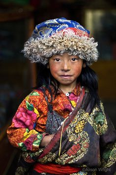 Tibet girl, in Lunang valley, Central Tibet, 2004