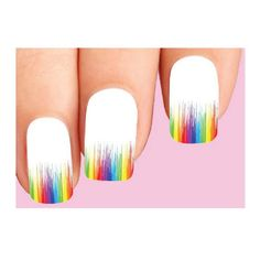 Waterslide Nail Decals Set of 10  Colorful by luckystarstyle