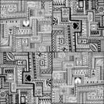 Ornamental ethnic black and white pattern with heart. Tribal background can be used for wallpaper, pattern fills, textile, fabric, wrapping, surface textures, coloring book for adults and kids.