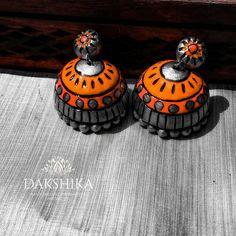 Funky Jewelry, Diy Jewellery, Jewelry Design, Teracotta Jewellery, Terracotta Jewellery Designs, Terracotta Earrings, Clay Earrings, Necklace Designs, Jewerly
