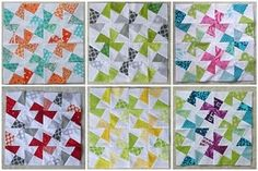I'm all into the Lil' Twister quilts right now and these are so pretty!