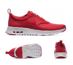 Nike Womens Air Max Thea Premium Trainers University Red S92405