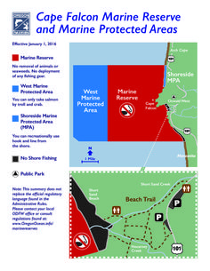 Cape Falcon Marine Reserve and marine protected areas, by the Oregon Department of Fish and Wildlife, Marine Reserves Program
