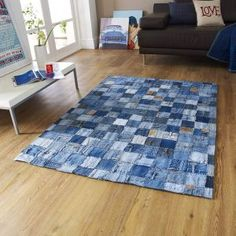 And now for something completely different! Be the first to jazz up your pad with one of our #Denim #Rugs, hand-sewn from pieces of genuine jeans. In 2 sizes, they're funky, they're fun and just what's needed to get the party started with everyone playing guess the designer! From £93.00
