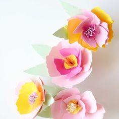 Cosas bonitas: Flores de papel para decorar
