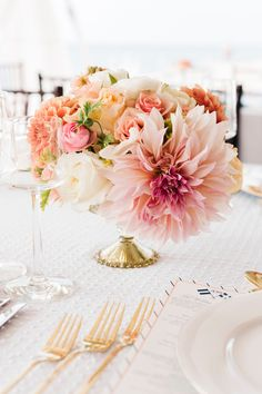 pretty in peach| Kate Spade nautical wedding by Hey Gorgeous Events and Harrison Studio