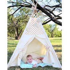 Pink and Gold Dot accent tent