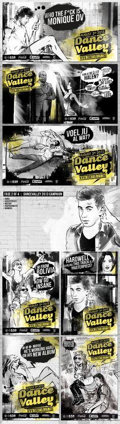 abris, masten, hekdoeken, vrachtwagens, vesnters, auto's en vliegtuigen worden straks bedrukt met dit rauwe artwork van DanceValley 2013 - Art & Illustration by Edy Palma en Martijn van Sonsbeek - www.palmaenvansonsbeek.com