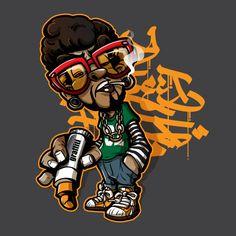 Graffiti Cartoons, Graffiti Characters, Cartoon Characters, Graffiti Drawing, Graffiti Art, Arte Do Hip Hop, Smart Art, Lowbrow Art, Vector Photo