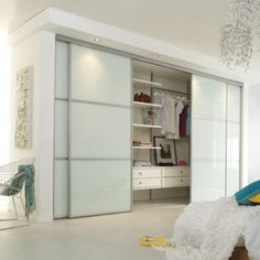 Closet doors are essential, however often forgotten about when it pertains to area design. Create a new look for your room with these closet door ideas. It is required to create distinct closet door ideas to beautify your residence design. Ikea Sliding Door, Ikea Closet Doors, Bedroom Closet Doors Sliding, Walk In Closet Ikea, Modern Closet Doors, Bedroom Closet Design, Wardrobe Doors, Closet Designs, Diy Bedroom