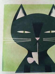 Cat print... by Matthew Hollister, via Flickr