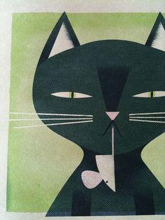 Cat print... by Matthew Hollister, via Flickr