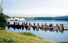 Abandoned submarines, western shores of Russia