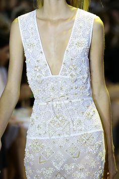 Intricate beaded details at Altuzarra Spring 2016