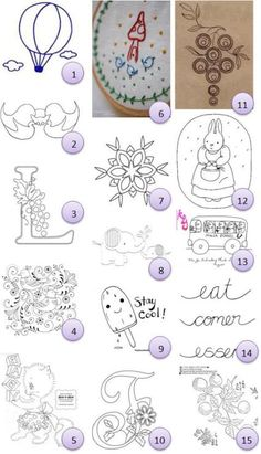 Embroidery Patterns Free hand-embroidery patterns/ I need to check this out - Tiny hot-air balloon from Memi The Rainbow Big Eared Chinese Bat from Stitching with a Shimmy (not free) Wednesday Wine Country – L from Shawkl Birds and swirls from spot colo… Silk Ribbon Embroidery, Embroidery Thread, Embroidery Applique, Cross Stitch Embroidery, Machine Embroidery, Handkerchief Embroidery, Embroidery Sampler, Flower Embroidery, Embroidery Patterns Free