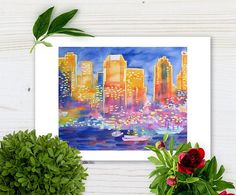 New York Great City Silhouettes printable poster gift for