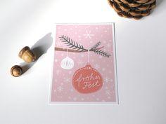 Postkarte »Frohes Fest Christbaumkugel« von designfräulein – feine Papierwaren auf DaWanda.com