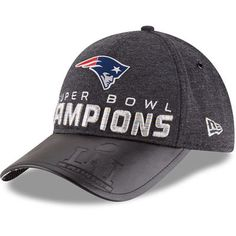 e83173144c5 Men s New England Patriots New Era Heathered Black Super Bowl LI Champions  Trophy Collection Locker Room 9FORTY Adjustable Hat