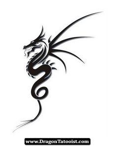 Simple Dragon Tattoos 07 - http://dragontattooist.com/simple-dragon-tattoos-07/ #dragon #tattoos #tattoo