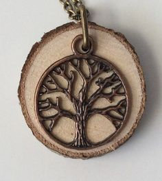 Tree Essential Oil Diffuser Necklace Made with Organic Wood by LowcountryEclectic $15.00 FREE SHIPPING!