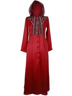 Red hoodie Ikat Gamis