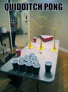Quidditch pong! Harry Potter, beer pong