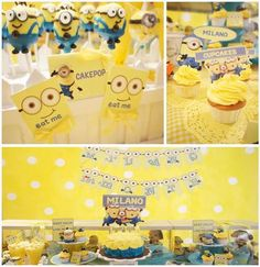 toddler party ideas with Despicable Me!!!  CUTE IDEA!