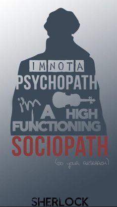 He's not a psychopath, he says. #sherlock #sherlockholmes #holmes #bbc